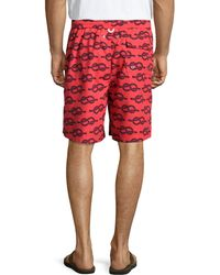 Neiman Marcus - Fancy Rope-print Swim Trunks - Lyst