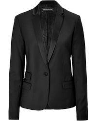 Zadig & Voltaire Wool Blend Tuxedo Blazer - Lyst