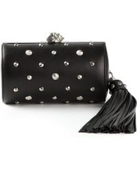 Alexander McQueen Studded Skull Shoulder Bag - Lyst
