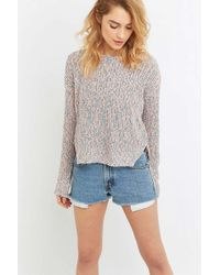 Ecote - Knitted Tapered Pullover Jumper - Lyst