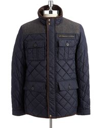 Vince Camuto Quilted Zipper Jacket - Lyst