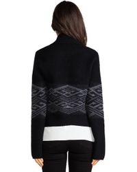 Twelfth Street Cynthia Vincent - Boiled Wool Cardigan in Black - Lyst