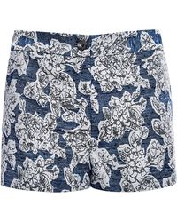 Thakoon Floral-Jacquard Shorts blue - Lyst