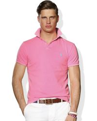 Polo Ralph Lauren Slim-fit Neon Mesh Polo - Lyst