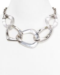 Alexis Bittar Lucite Liquid Metal 5link Necklace 16 - Lyst