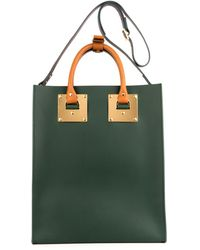 Sophie Hulme Structured Buckled Leather Tote - Lyst