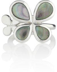 Manja - Silver Reva Ring Black Shells - Lyst