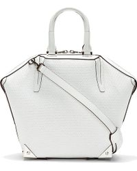 Alexander Wang White Textured Leather Emilie Small Tote Bag - Lyst
