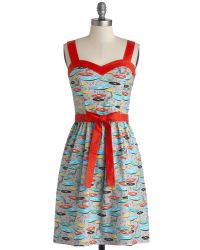 ModCloth For The Record Books Dress - Lyst