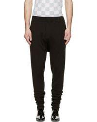 Haider Ackermann Black Ribbed Knit Dropped Lounge Pants - Lyst