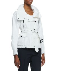 Burberry London Longsleeve Hideaway Utility Jacket - Lyst