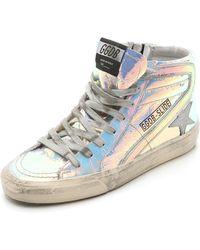 Golden Goose Deluxe Brand Slide Sneakers - Metallic - Lyst