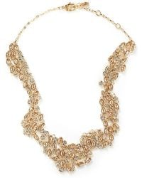 St. John - 'night Bloom' Laurel Crystal Collar Necklace - Lyst