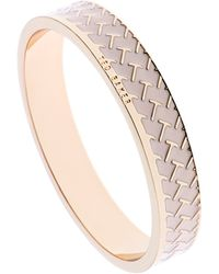 Ted Baker Clowi T Pattern Enamel Bangle - Lyst