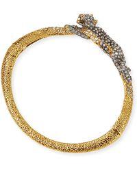 Alexis Bittar Crystal Resting Panther Hinge Bracelet - Lyst