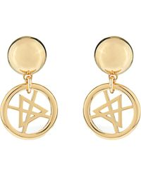 Moschino - Dry Cleaning Sign Earrings - Lyst