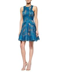 Elie Saab Scalloped Lace Flounce Mini Dress - Lyst