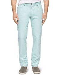 Calvin Klein Four-Pocket Sateen Bowery Slim-Fit Casual Pants blue - Lyst