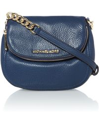 Michael Kors Bedford Navy Flap Over Cross Body Bag - Lyst