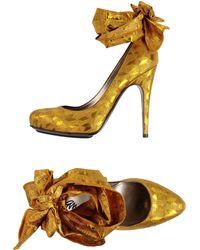 Lanvin Court gold - Lyst