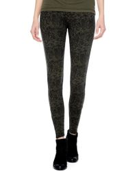 Splendid Python Printed French Terry Legging - Lyst