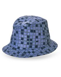 Hermes Hermãs Blue Printed Sun Hat - Lyst