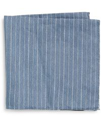 Armani Linen  Silk Stripe Pocket Square - Lyst