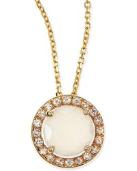 KALAN by Suzanne Kalan - 6mm Moonstone & White Sapphire Pendant Necklace - Lyst