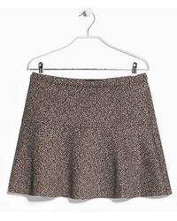 Mango Printed Neoprene Skirt - Lyst