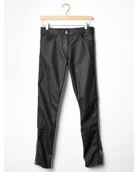Gap Coated Biker Super Skinny Jeans - Lyst