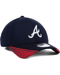New Era Atlanta Braves Vertical Strike 39thirty Cap - Lyst