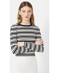 Topshop Unique - Long Sleeve Rib Knit Top - Lyst