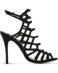 Steve Madden - Skales Caged Block Heel Dress Sandals - Lyst
