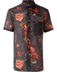 Yoshio Kubo - Floral Print Shortsleeved Shirt - Lyst