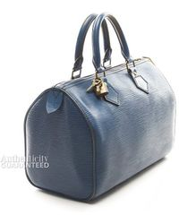 Louis Vuitton Preowned Toledo Blue Epi Speedy 25 Bag - Lyst