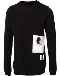 DRKSHDW by Rick Owens Graphic Panel L/S Sweatshirt Black - Lyst