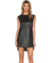 Muubaa - Leather Front Dress - Lyst
