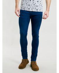 Topman Hurricane Blue Stretch Skinny Jeans - Lyst