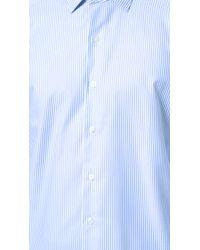 Culturata - Point Collar Striped Oxford Shirt - Lyst
