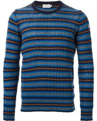 Moncler Striped Knitted Jumper - Lyst