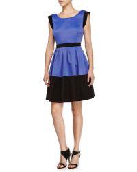 Halston Heritage Color-Blocked Prom Dress - Lyst