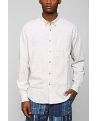 Obey Speckle Button-Down Shirt - Lyst