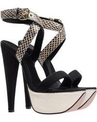 Giambattista Valli Black Sandals - Lyst