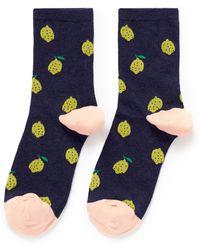 Hansel From Basel Lemon Crew Socks blue - Lyst