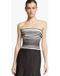 Halston Strapless Faille Top - Lyst