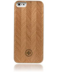Tory Burch Wood Case For Iphone 5 - Lyst