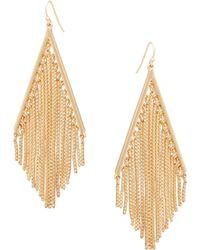 Trina Turk - Fringe Diamond Shape Drop Earring - Lyst