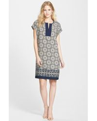 Pleione Print Shift Dress - Lyst