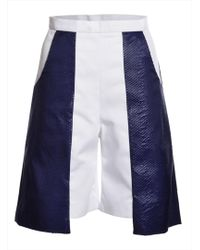 Paper London Navy & White Marble Shorts By blue - Lyst