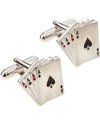 Mach Speed - Aces Wild Card Cuff Links - Lyst